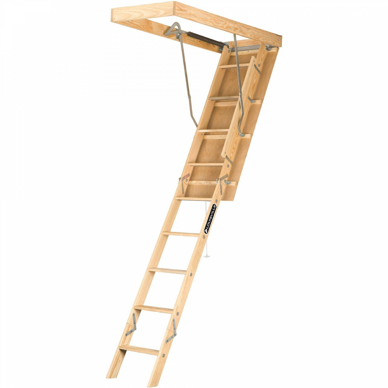 Attic Ladder Pull Down Folding Stairs Wood Steps Ceiling Door Access Louisville 47345102211 Ebay In 2020 Attic Ladder Attic Access Ladder Versa Lift