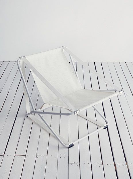 deck chair white minimal lr inspiration pinterest deck chairs