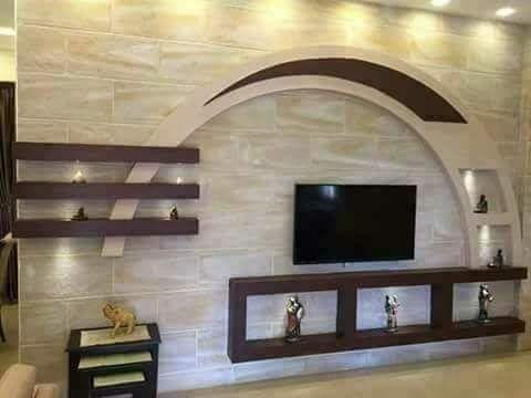 ديكورات جبسية جديدة لشاشات البلازما في غاية الروعة Youtube False Ceiling Design Tv Wall Design Ceiling Design