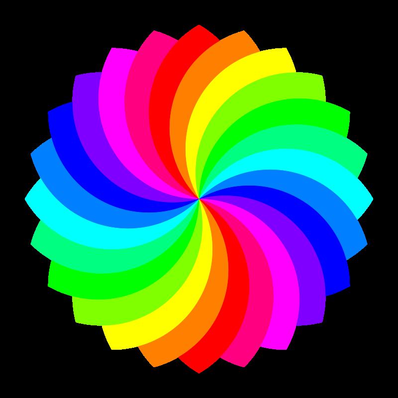 Free 24 Football Flower 12 Color Color Clip Art Free Clip Art
