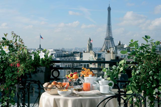 View Of The Eiffel Tower From Hotel Balzac Paris
