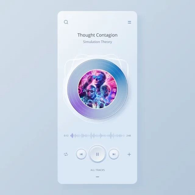 User Interface & User Experience Design For Mobile Music Player App |