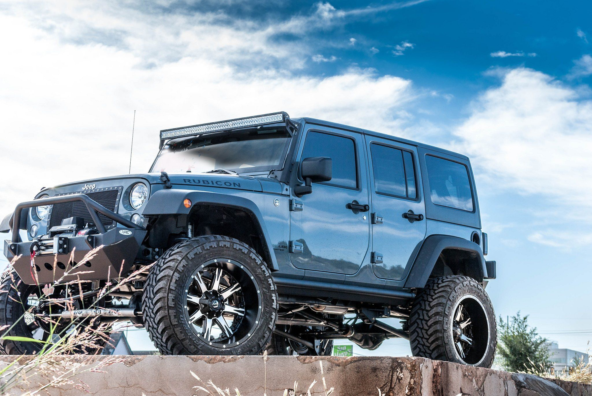Blue Jeep Wrangler Rubicon With Insane Off Road Mods Fuel