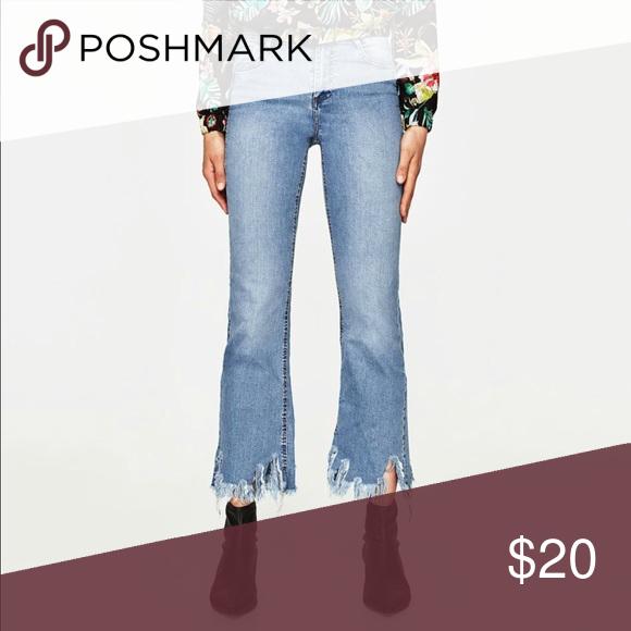 6c327d14 Zara Trafaluc cropped flare jeans (2) 100% Authentic Brand New ZARA TRF  CROPPED