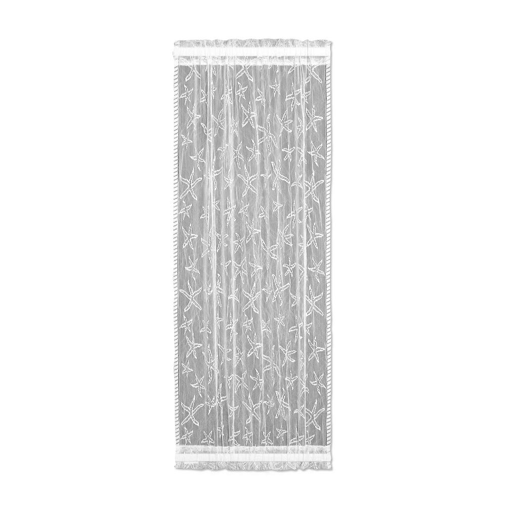 Heritage Lace Starfish White Polyester Light Filtering Lace Sidelight Curtain Panel 15 In W X 63 In L Sidelight Curtains Panel Curtains Lace Curtain Panels