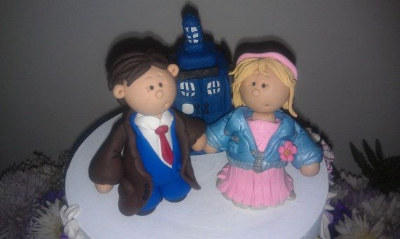 Doctor Who Christmas Ornament or Wedding Cake Topper Rose Tyler and