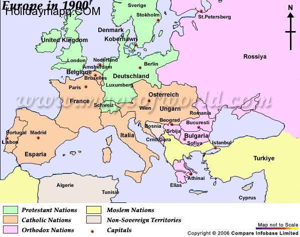 Nice Map Of Europe Early 1900s Holidaymapq Pinterest World