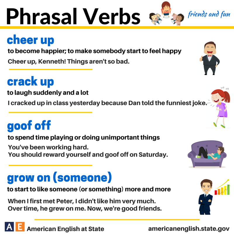 Phrasal verbs friends and fun phrasal verbs pinterest for Set up meaning