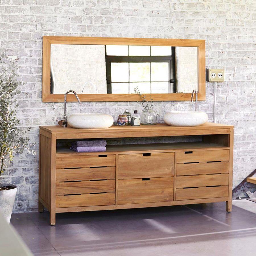 meuble salle de bain en teck 165 serena meubles pas cher pinterest salle de bain en teck. Black Bedroom Furniture Sets. Home Design Ideas