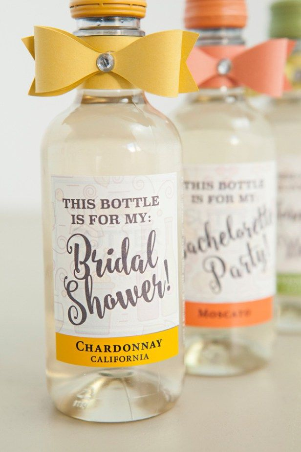 the most adorable diy mini wine bottle bridesmaid gift ever mini