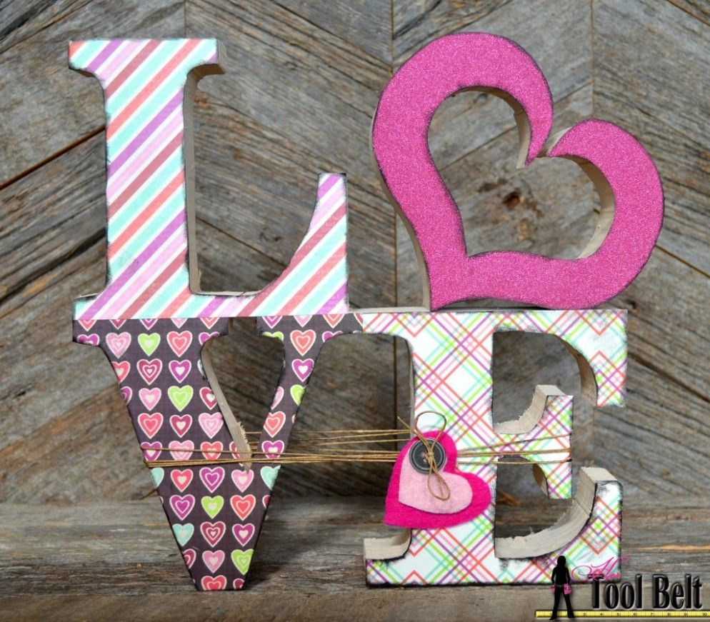 creative wood arts and crafts beautifying the rooms cute wooden block letters ideas for valentine