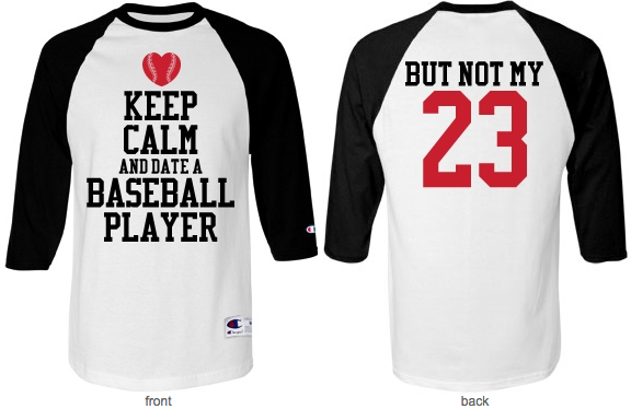 Photo of Keep Calm and Date A Baseball Player Custom Number