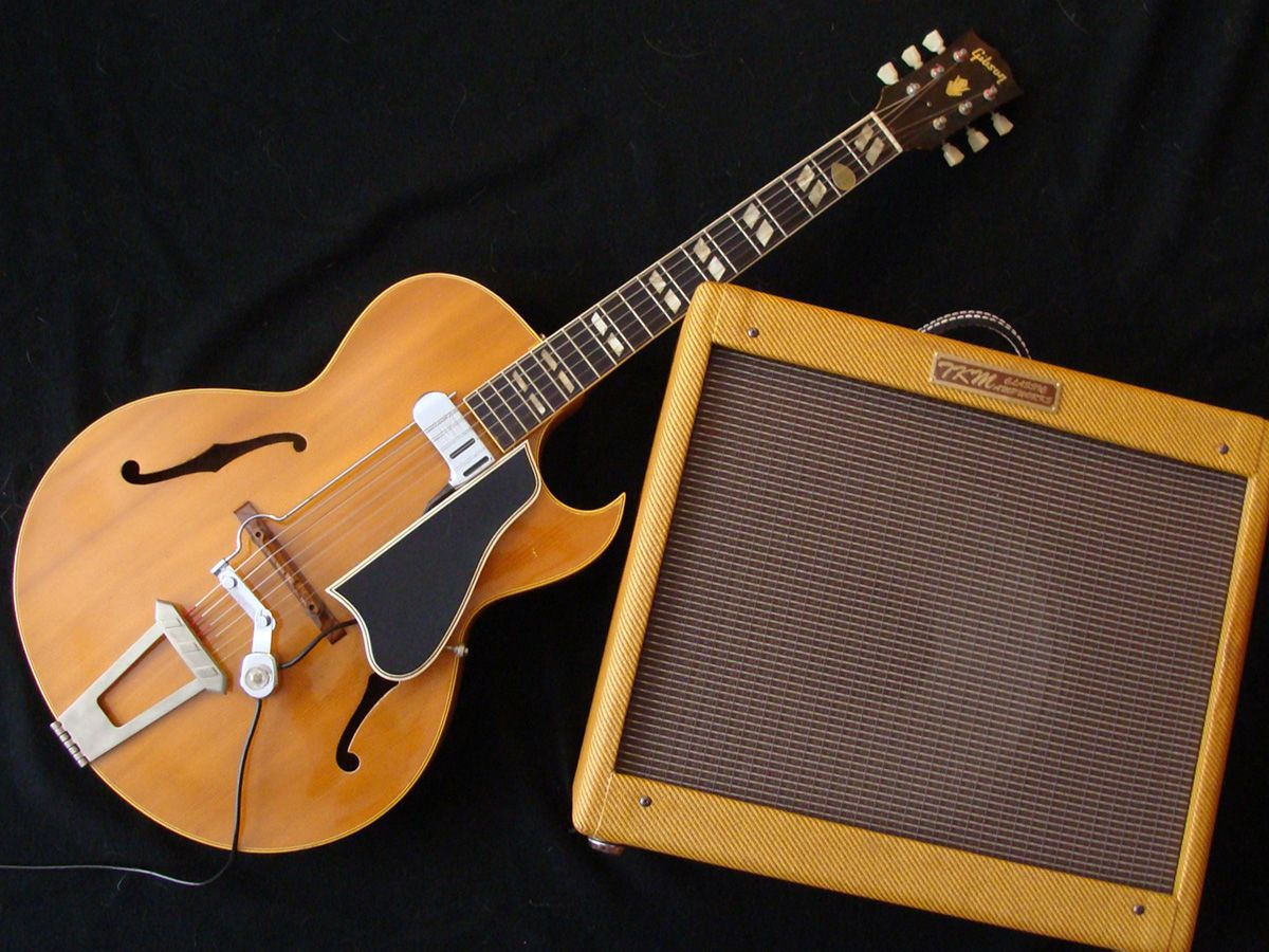 1954 gibson l 4cn with dearmond fhc b pickup and tkm classic ampworks jazz deluxe archtop. Black Bedroom Furniture Sets. Home Design Ideas