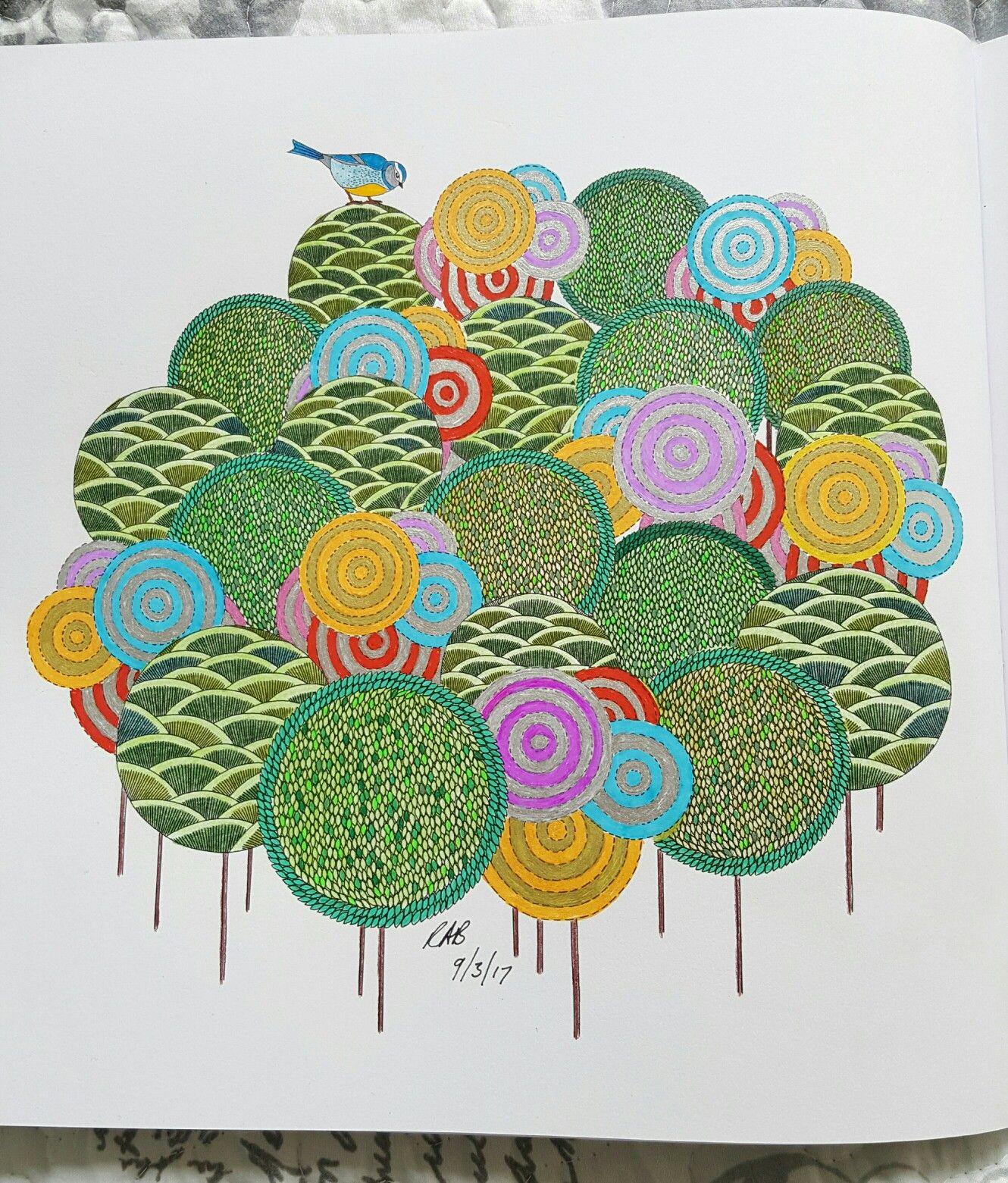 Trees From Millie Marotta S Animal Kingdom Book Millie Marotta Animal Kingdom Millie Marotta Coloring Book Animal Kingdom Colouring Book