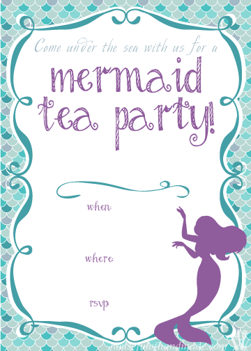 The Perfect Birthday Party For A Little Girl Mermaid Tea Lots Of Great Ideas On How To Throw With Free Printables