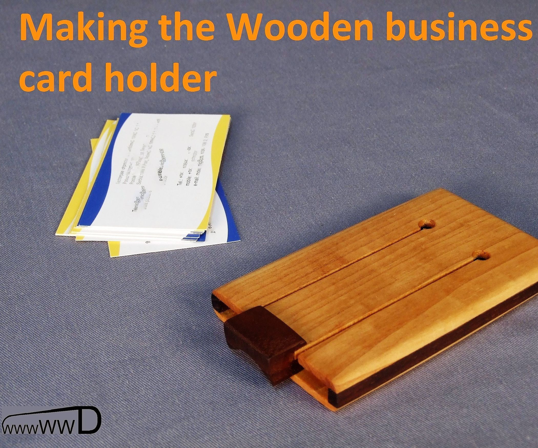 Wooden Business Card Holder | Business card holders, Business cards ...