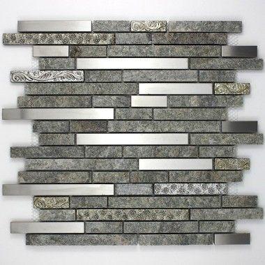 mosaique carrelage pierre et inox 1 plaque radus credence cuisine pinterest kitchen. Black Bedroom Furniture Sets. Home Design Ideas