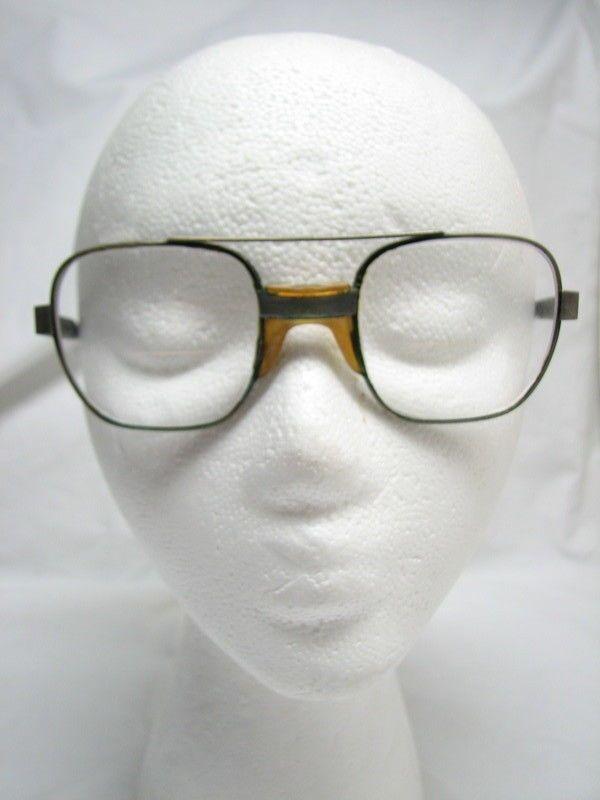 95269840936  VTG  American Optical AO Styleguard II Z87 Eyeglasses Frame Silver Aviator  145  AmericanOptical