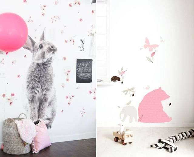 Babykamer Behang Konijn : Babykamer behang prints babykamer kinderkamer
