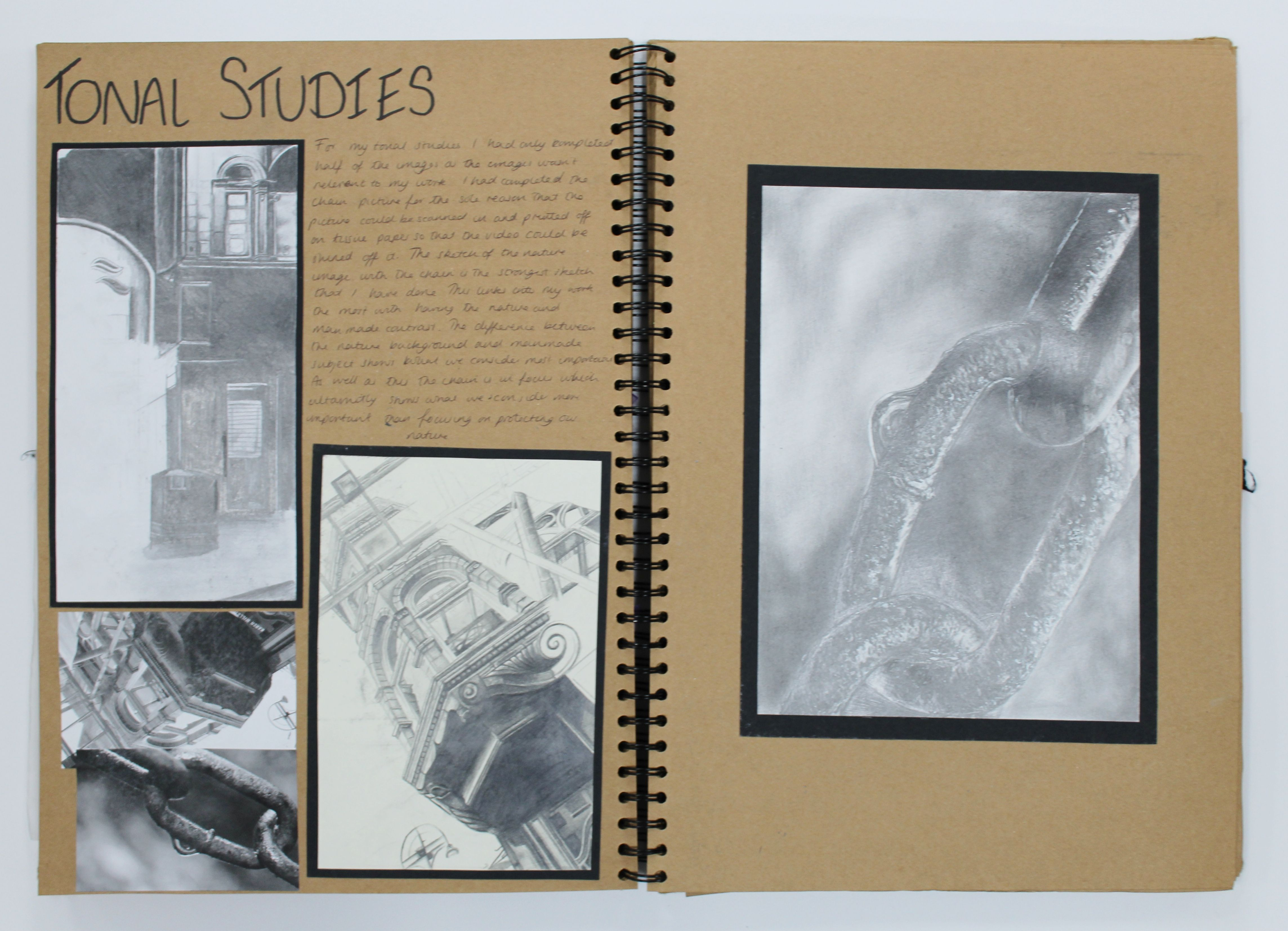A2 Fine Art A3 Brown Sketchbook Tonal Studies Esa Truth Fantasy Or Fiction Thomas Rotherham College 2016 Sketch Book Art Artist Research Page