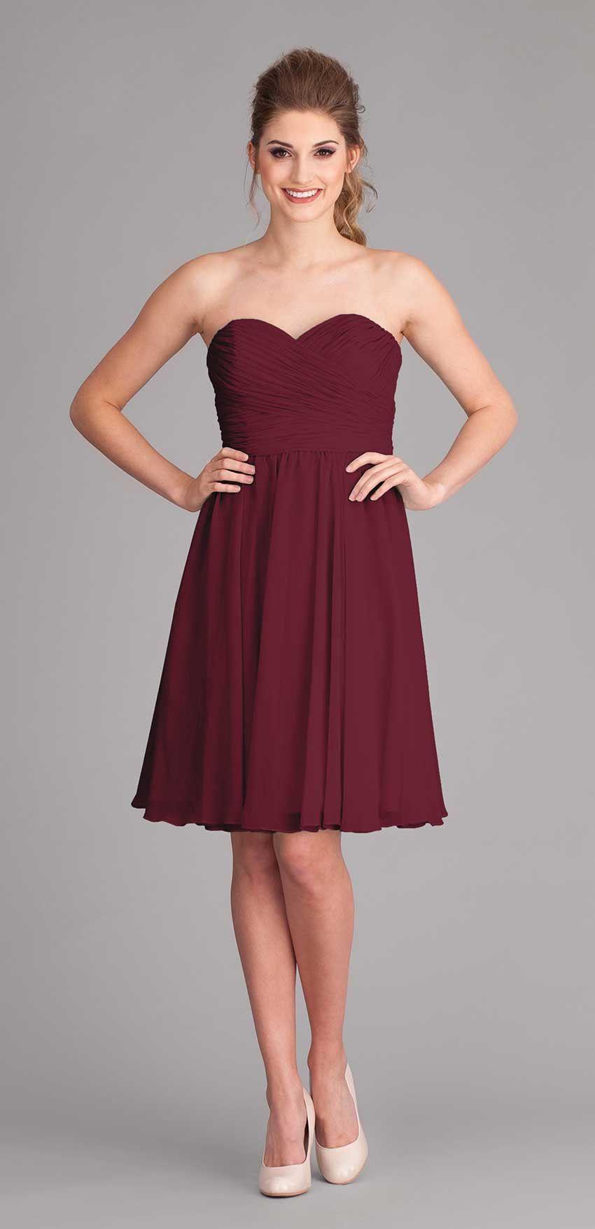 Kennedy Blue Bridesmaid Dress Sydney   Strapless chiffon ...