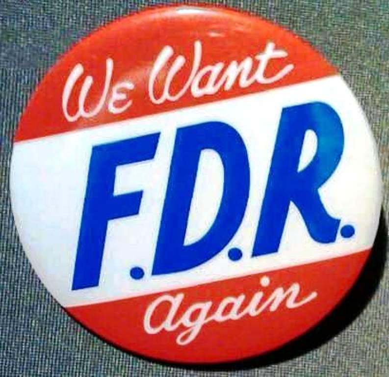 President Franklin Delano Roosevelt Fdr Campaign Button We - Wiki us presidents