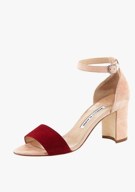 9c19c3325 Manolo Blahnik Lauratomod color-block suede ankle-wrap sandals
