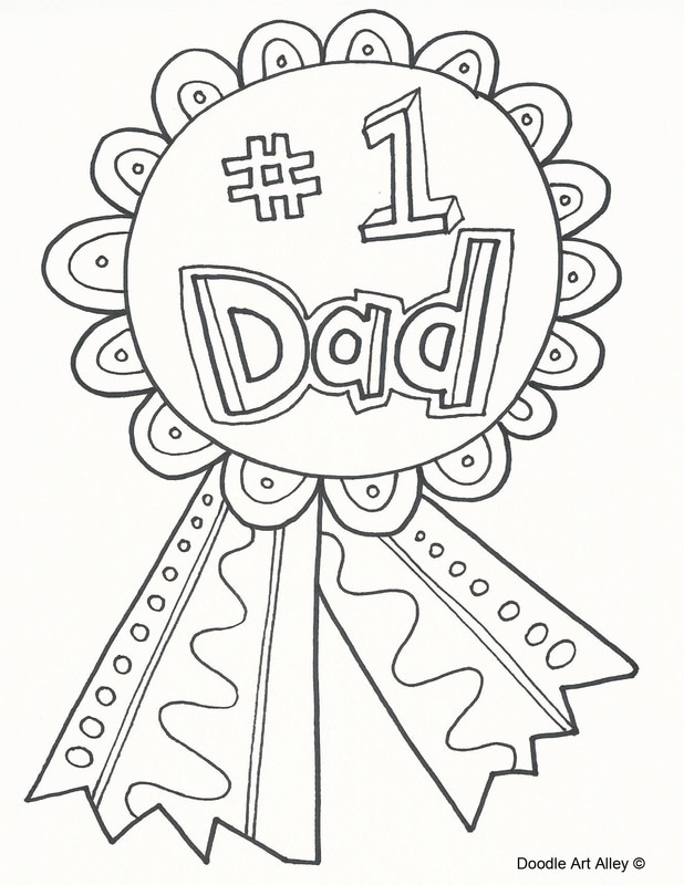 Fathers Day Coloring Pages   Doodle Art Alley alley art ...