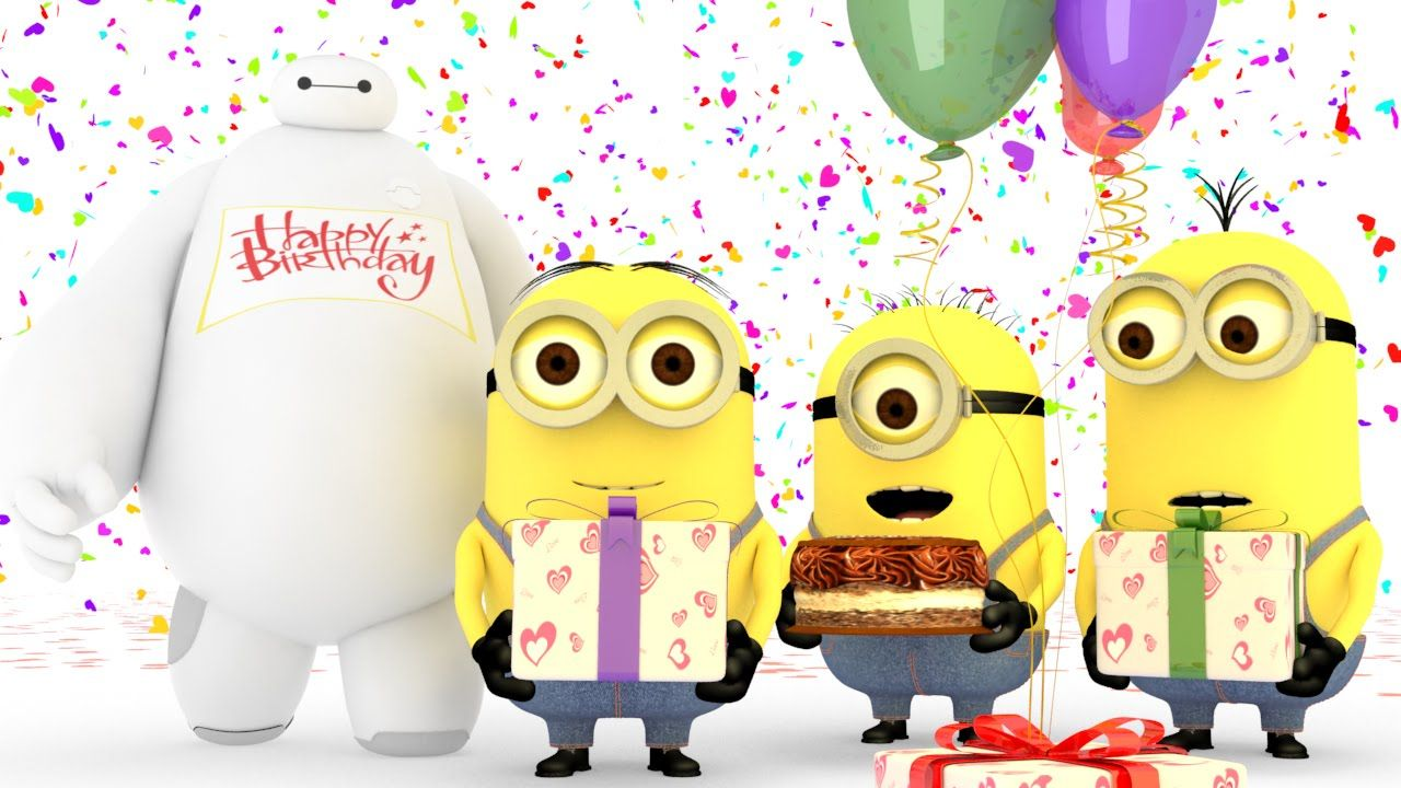 Minions Birthday song with Baymax
