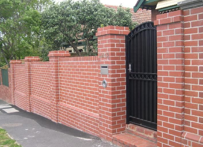 brick wall fence design ideas - Google Search | Fence design ...
