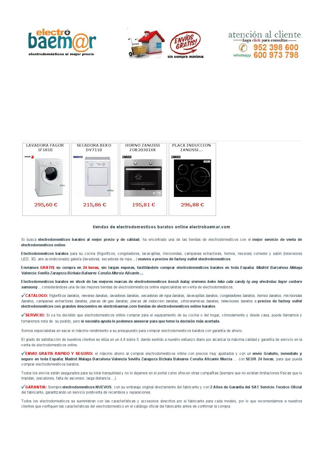 Electrodomesticos Baratos Bosch Balay Siemens Beko Teka Lg Cata