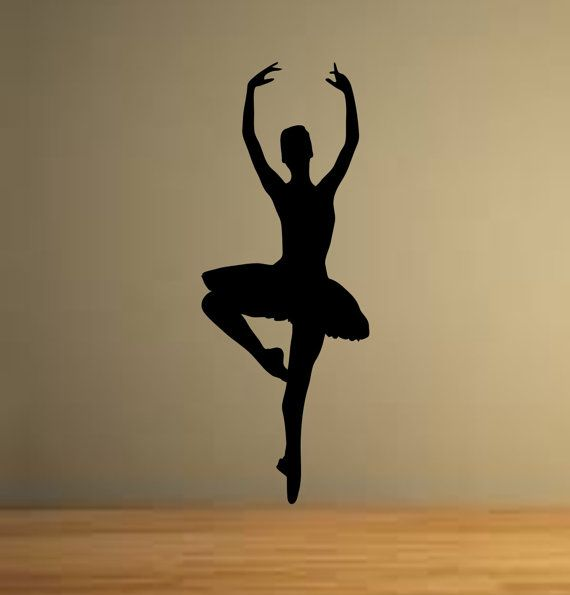 Ballet dancer dancing ballerina wall decor vinyl decal for Kreative zimmereinrichtung