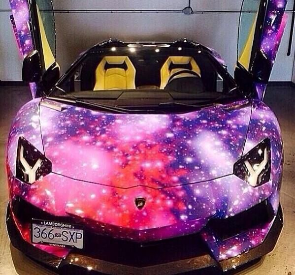 Galaxy Pink And Purple Lamborghini Street Dreams Lamborghini