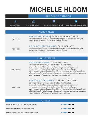 Graphic - Free Resume Template by Hloom Branding Pinterest - artistic resume templates free