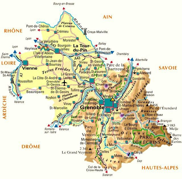 Carte De L Isere Heyrieux Villefontaine Et Chambery