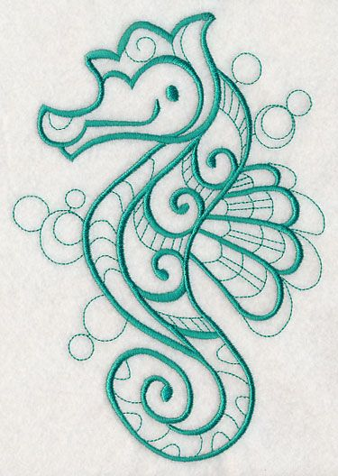 doodle seahorse design m2776 from www emblibrary com seahorses