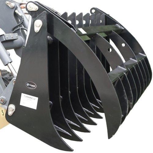 Titan Attachments 72' Grapple Rake & 42' Pallet Fork Skid