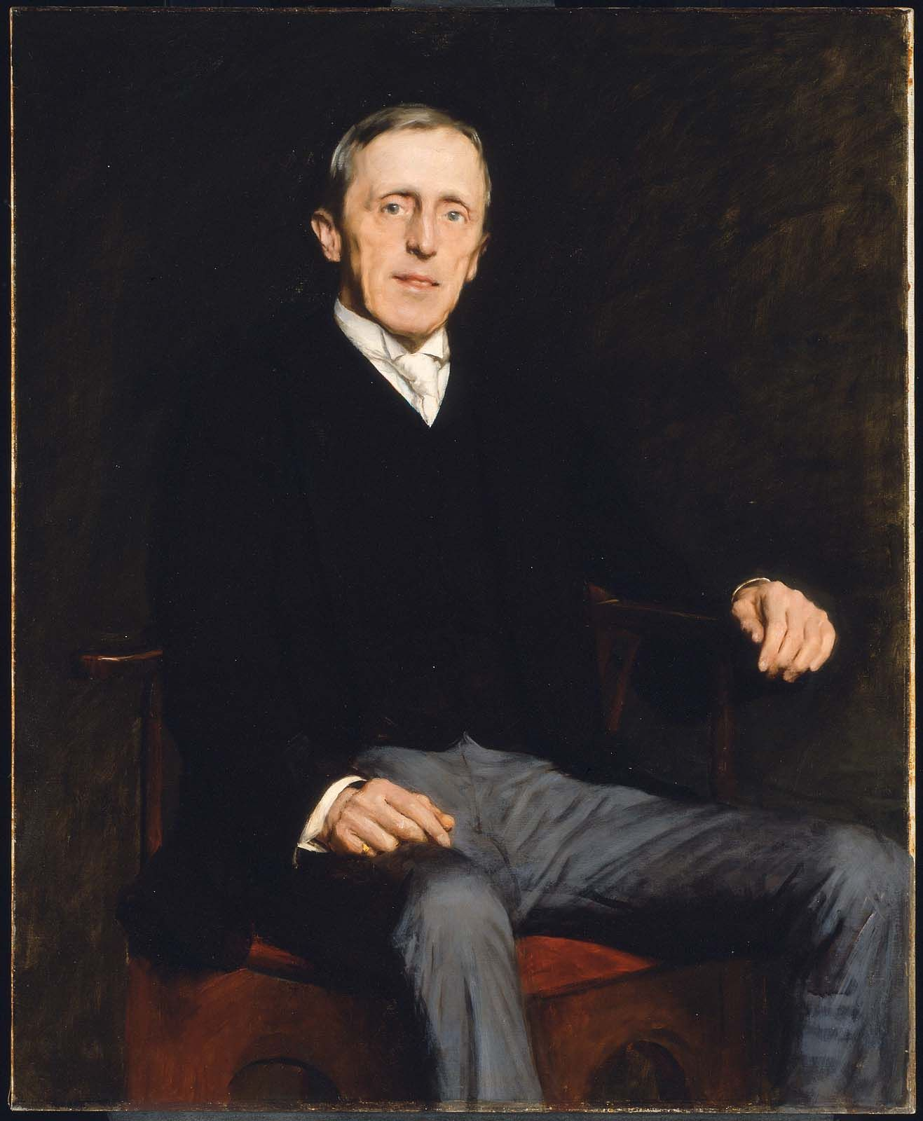 """George Augustus Gardner,"" Dennis Miller Bunker, 1888, oil on canvas, 44 x 36"", Museum of Fine Arts, Boston."