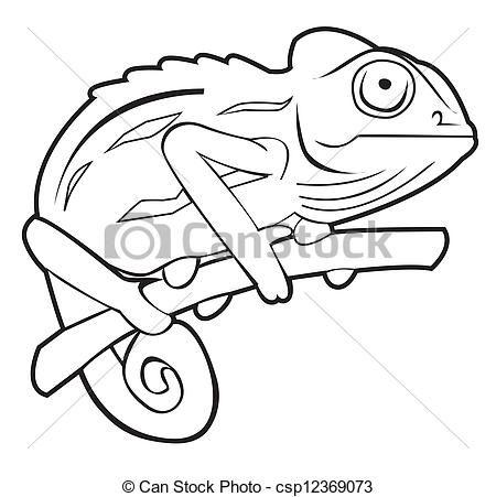 vector - chameleon - stock illustration, royalty free illustrations