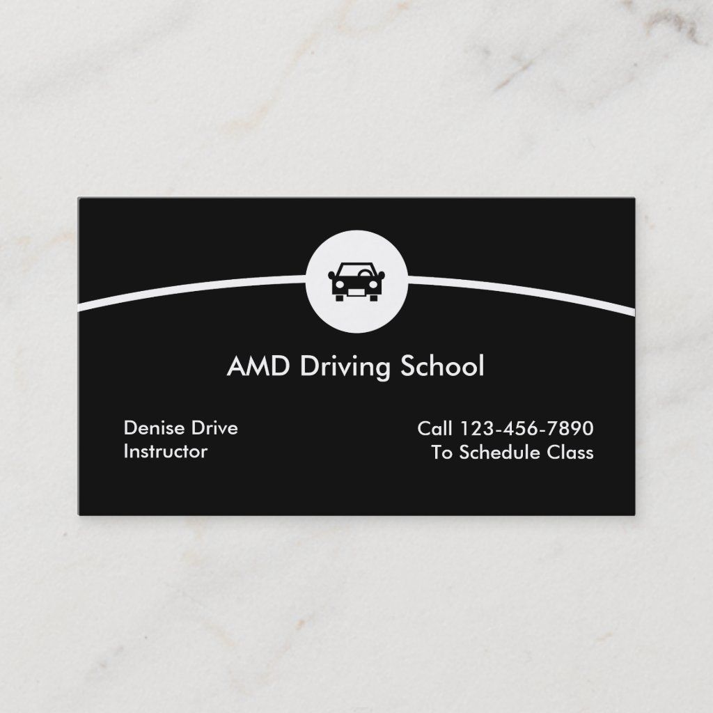 Driving School Business Cards Zazzle Com In 2021 Driving School Business Cards Business Card Template