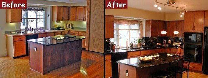 remodeled kitchens before and after   Kitchen Remodel - Before and After Photos ...#kitchen #kitchens #photos #remodel #remodeled