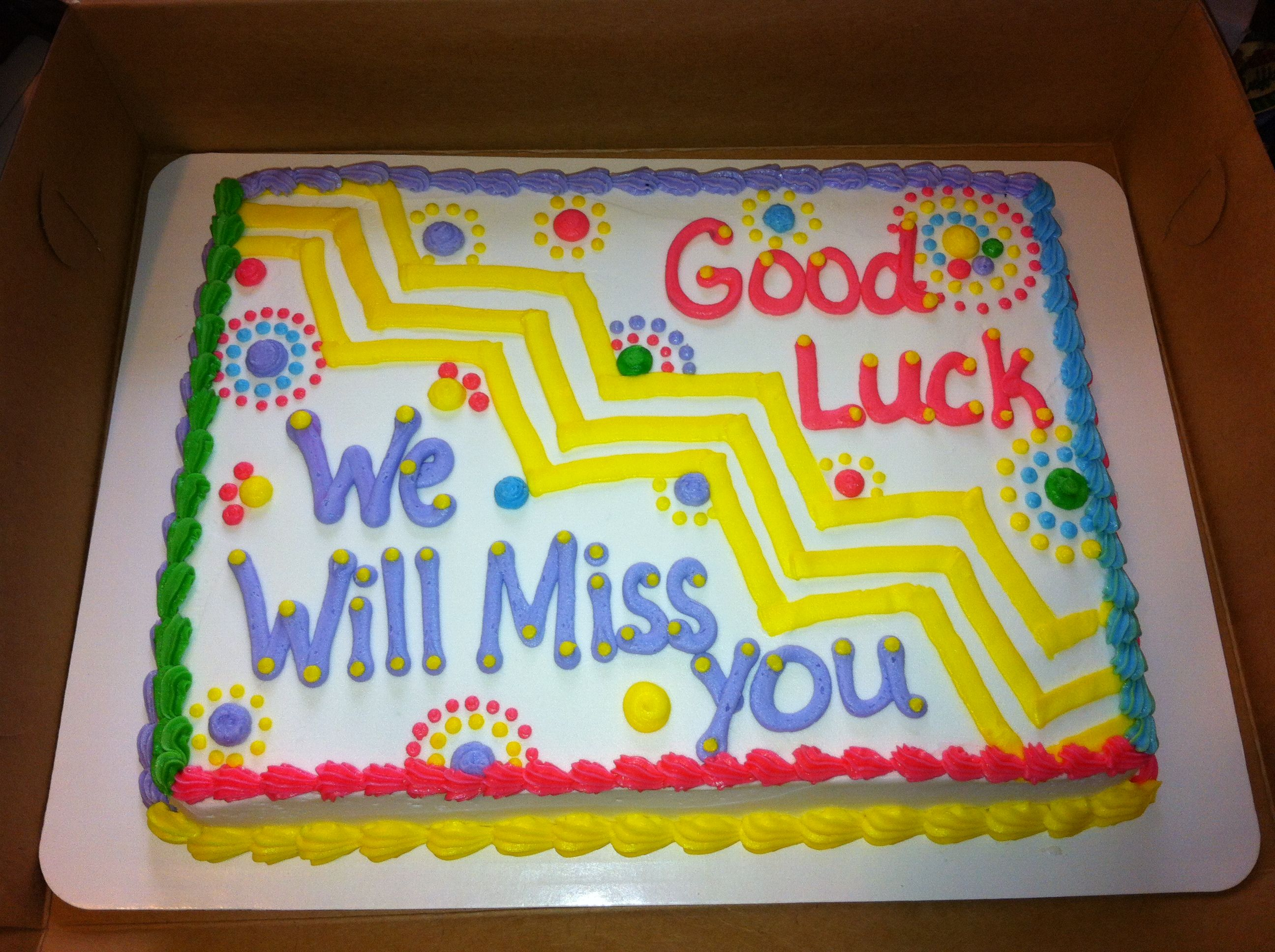 Farewell ideas for coworkers - Farewell Cake