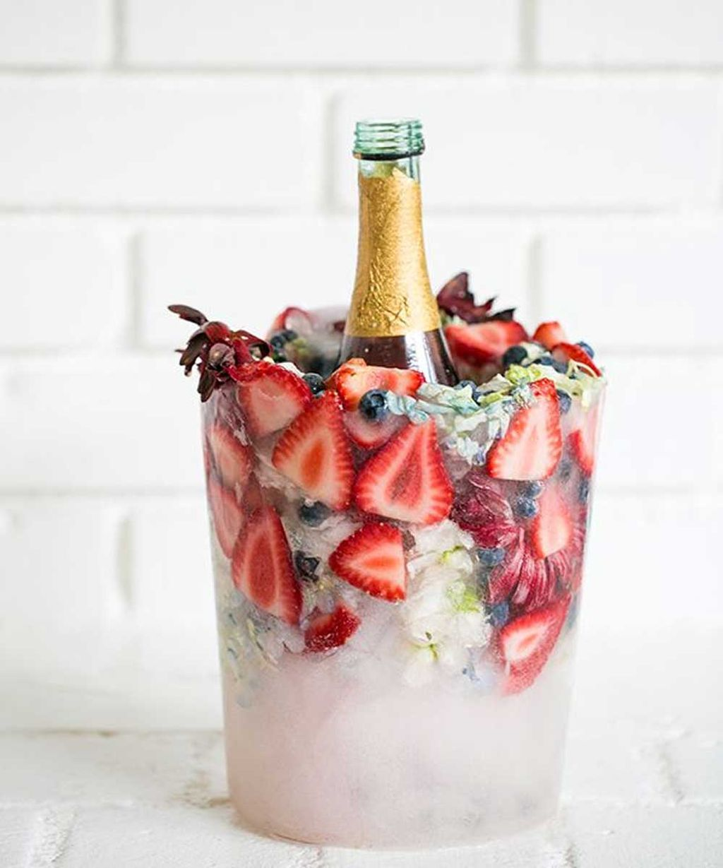 There S A New Mdash And Infinitely Prettier Mdash Nbsp Kind Of Ice Bucket Challenge This Summer That S Floral Ice Bucket Floral Ice Wine Chiller Bucket