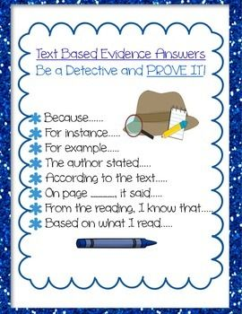 Students love acting like a detective, searching for answers to text-based questions in reading. Adding a small magnifying glass to text-based questioning is a great addition to make the student detective work even more authentic. Students love proving their answers and I love seeing the process happen in my classroom.Happy Teaching :)