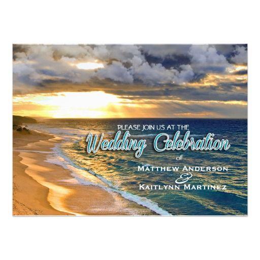 Ocean Wedding Set 2 - Invitation