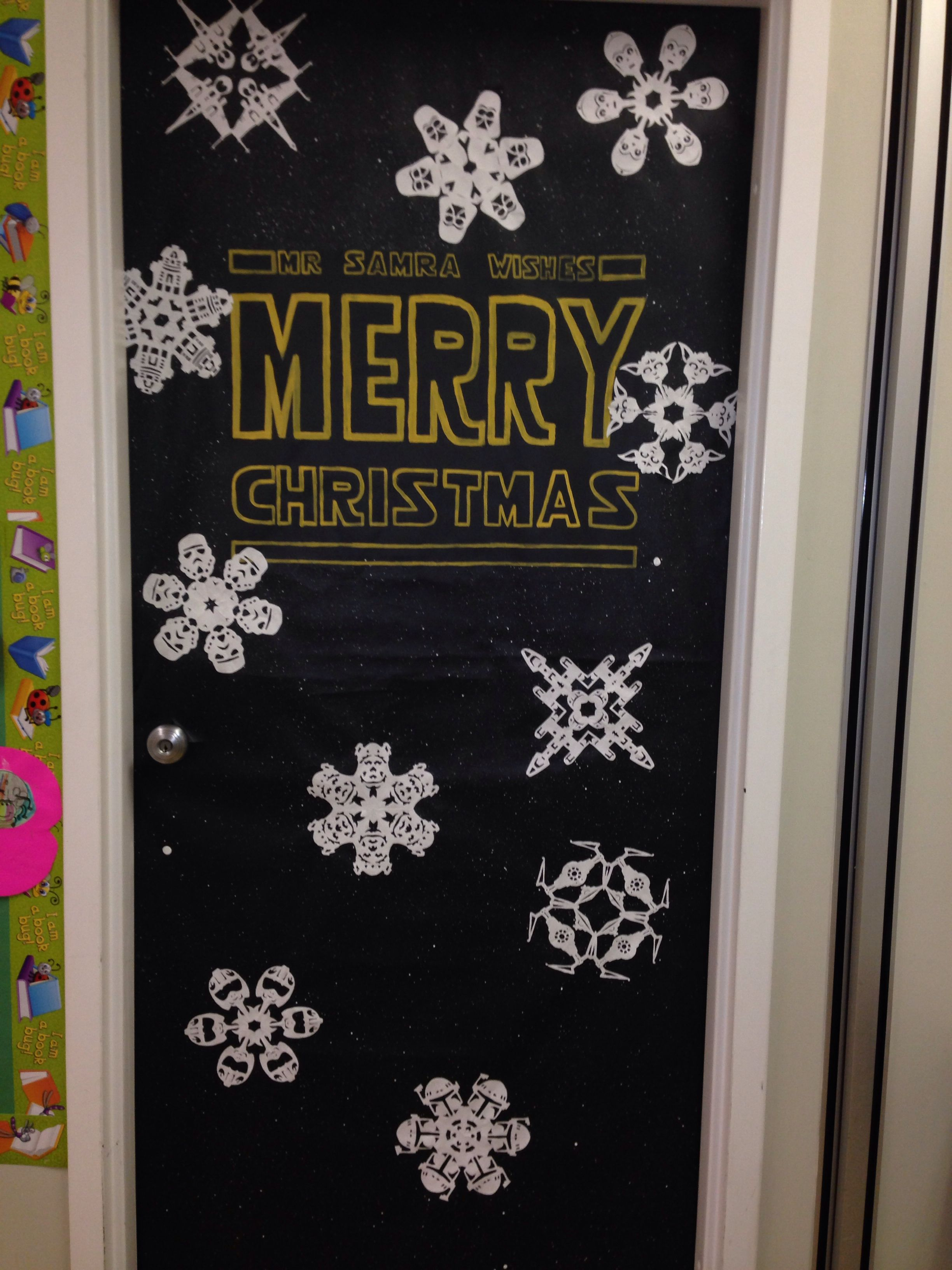 Star Wars Decorating Ideas Star Wars Christmas Door Christmas