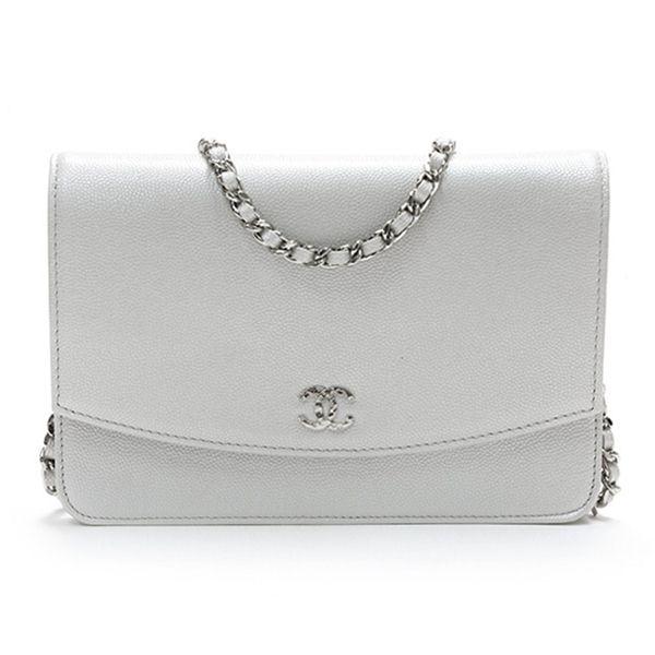 859c9bc9c99f04 Chanel Silver Caviar Leather Sevruga WOC Clutch - my bridal bag | C ...
