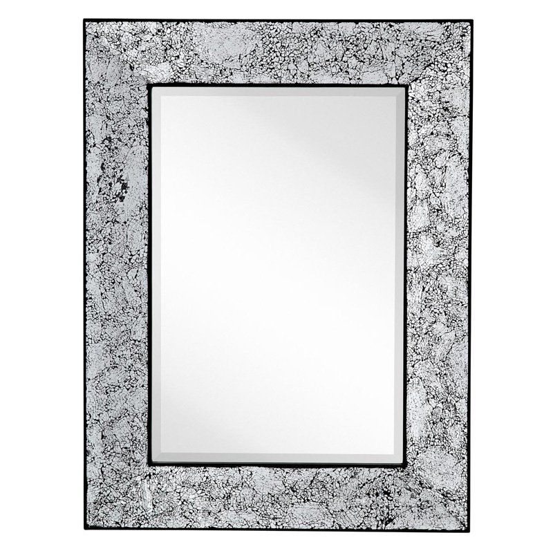 Majestic Rectangle Crackled Wall Mirror 2321 B Mirror