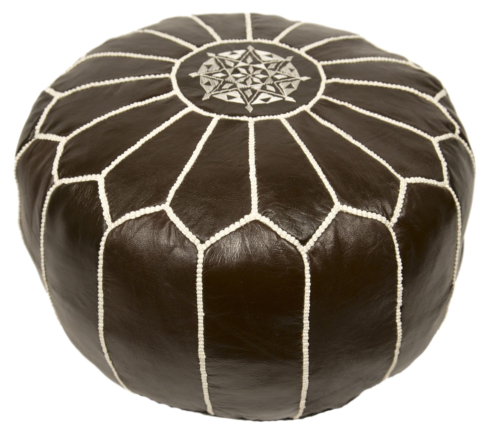 Moroccan Embroidered Pouf Ottoman | Products | Pinterest