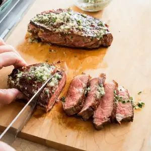 Photo of Cast Iron Steaks with Herb Butter | Cook's Illustrated-Cast …
